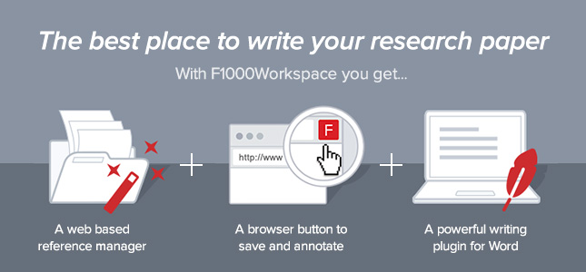 F1000Workspace wins award for Best New End User Product