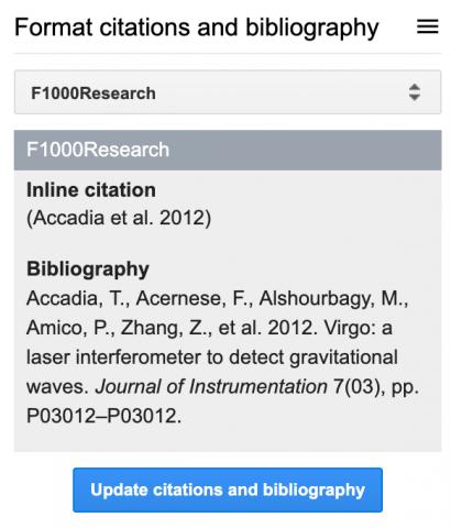 How to write academic documents with GoogleDocs using